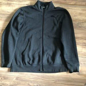 Men's Black Puma Zip Up Jacket Size XL